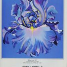 Lowell Nesbitt Blue Iris Vintage 1982 Art Ad Advertisement