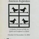 Harriet Kittay Vintage 1982 Art Exhibition Ad American Inspiration Advert