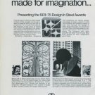 Albert Paley Tony Rosenthal Vintage 1975 Art Ad American Iron & Steel Institute