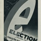 Election Watch Company Switzerland Vintage 1956 Swiss Ad Suisse Advert Horology