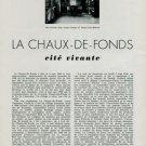 1944 La Chaux-de-Fonds Switzerland Cite Vivante Vintage 1944 Swiss Magazine Article Suisse