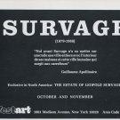 1969 Leopold Survage Estate Vintage 1969 Art Exhibition Ad Advert