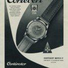 Cortebert Watch Company Corterotor Vintage 1956 Swiss Ad Suisse Advert Horology