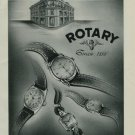 1950 Rotary Watch Company Vintage 1950 Swiss Ad Suisse Advert Switzerland Horology