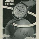 1950 Titus Watch Company Solvil Switzerland Vintage 1950 Swiss Ad Suisse Advert Paul Ditisheim