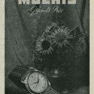 1950 Moeris Watch Company Switzerland Vintage 1950 Swiss Ad Suisse Advert Horology
