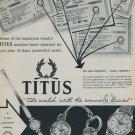 Titus Watch Company 1957 Swiss Ad Geneva Switzerland Geneve Suisse Advert