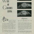 Alpina Watch Company Vintage 1950 Swiss Ad Bienne Switzerland Suisse Horlogerie