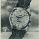 1956 Suter Watch Company Suter Stratomatic Advert 1956 Swiss Ad Suisse Advert Hafis Watch Co.