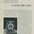 1956 Jaeger-LeCoultre Clock Company La Nouvelle Atmos Classic 1956 Swiss Magazine Article Suisse