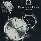 1965 Solvil & Titus Watch Company Switzerland 1965 Swiss Ad Suisse Advert Solvil Watch Company