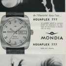1968 Mondia Watch Company Switzerland Mondia Aquaflex 777 Advert Vintage 1968 Swiss Ad Suisse Advert