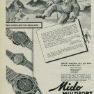 1950 Mido Watch Company Bienne Switzerland Vintage 1950 Swiss Ad Suisse Advert Horology