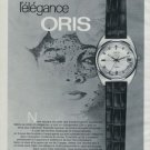 Oris Watch Company Holstein Switzerland Vintage 1970 Swiss Ad Suisse Advert