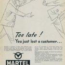 1957 Martel Watch Company Switzerland Vintage 1957 Swiss Ad Suisse Advert Horlogerie