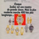 1970 Zodiac Watch Company Le Locle Switzerland Vintage 1970 Swiss Ad Suisse Advert Horlogerie