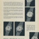 1957 Wilka Watch Company Switzerland Vintage 1957 Swiss Ad Suisse Advert Horology