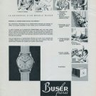 Buser Freres Watch Company 1956 Swiss Ad Suisse Advert Niederdorf, Switzerland