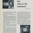 1957 Marvin Watch Company Demon on Dashboard 1957 Swiss Ad Switzerland Suisse Advert