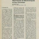 1965 Les Mouvements d'Horlogerie Electriques et Electroniques 1965 Swiss Magazine Article Horology