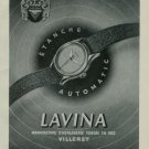 1950 Lavina Watch Company Vintage 1950 Swiss Ad Villeret Switzerland Suisse Advert Horlogerie