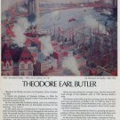 1974 Theodore Earl Butler Brooklyn Bridge Vintage 1974 Art Ad Advert Advertisement
