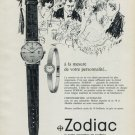 1965 Zodiac Watch Company Switzerland Vintage 1965 Swiss Ad Suisse Advert Horlogerie Horology