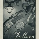 Delbana Watch Company Grenchen Switzerland Vintage 1956 Swiss Ad Suisse Advert