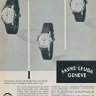 1957 Favre-Leuba Watch Company Geneve 1957 Swiss Ad Suisse Advert Geneva Switzerland