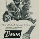 1950 Timor Watch Company Switzerland Vintage 1950 Swiss Ad Suisse Advert