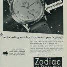 1950 Zodiac Watch Company Zodiac Autographic Advert Vintage 1950 Swiss Ad Suisse Advert Switzerland