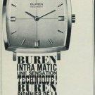 Buren Watch Company Switzerland 1965 Swiss Ad Suisse Advert Horology
