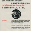 1968 Incabloc Company Switzerland Vintage 1968 Swiss Ad Suisse Advert Horology Horlogerie