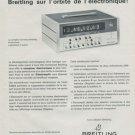 Breitling Watch Company Electrosplit Vintage 1968 Swiss Ad Suisse Advert
