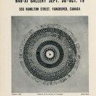1968 Jack Wise Genesis Vintage 1968 Art Exhibition Ad Advert  Bau-Xi Gallery, Vancouver