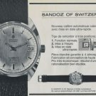 1969 Sandoz Watch Company Vintage 1969 Swiss Ad Suisse Advert Horology