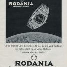 1972 Rodania Watch Company Rodania World Star Advert Vintage 1972 Swiss Ad Suisse Advert Horology