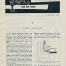 1957 Turning a Balance Staff by H. Jendritzki Vintage 1957 Swiss Magazine Article Horology
