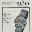 1968 Olma Watch Company Switzerland Numa Jeannin S.A. 1968 Swiss Ad Suisse Advert