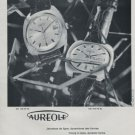 Aureole Watch Company Vintage 1969 Swiss Ad Suisse Advert Horology Horlogerie