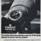1969 Tissot Watch Company Tissot PR 516 GL Advert Vintage 1969 Swiss Ad Suisse Advert Horology