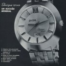 1969 Enicar Watch Company Sherpa Star Vintage 1969 Swiss Ad Suisse Advert Horology
