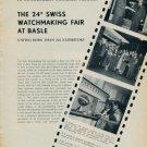 1954 The 24th Swiss Watch Fair at Basle Switzerland Vintage 1954 Swiss Magazine Clipping Photos
