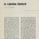 1956 Les Exportations d'Horlogerie Aout - Septembre 1956 Swiss Magazine Article Horlogerie Horology