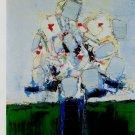 Nicolas de Stael Fleurs dans un Vase Bleu Art Ad Advertisement