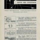 Revue des Inventions 1956 Swiss Horology Patents Brevets Suisses Horlogerie
