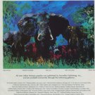 1976 LeRoy Neiman Elephant Stampede Advert Vintage 1976 Art Ad Advertisement