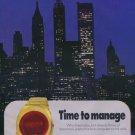 Nivada Watch Company Grenchen Switzerland Vintage 1975 Swiss Ad Suisse Advert Horlogerie
