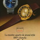 1974 Mido Watch Company Quartz Ocean Star Vintage 1974 Swiss Ad Suisse Advert