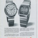Certina Watch Company DS-Quartz Chronolympic Vintage 1977 Swiss Ad Suisse Advert